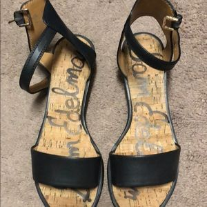 Sam Edelman sandals black leather size 6.5